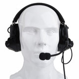 Z-TAC C2 Noise Cancelling Headset - Black - tacticalxmen