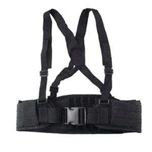 LongRui Lightweight Modular Multifunctional H Shape Molle Suspender Belt - Black - tacticalxmen