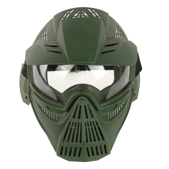 WST Airsoft Mask Adjustable Full Face Tactical Mask with Goggle Eye Protection for Paintball CS - tacticalxmen