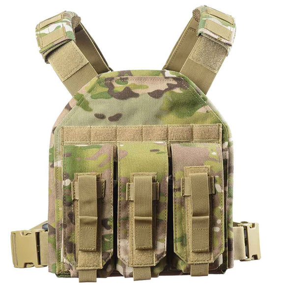 YAKEDA 1000D Detachable Lightweight Modular Tactical Vest Plate Carrier Tactical Vest
