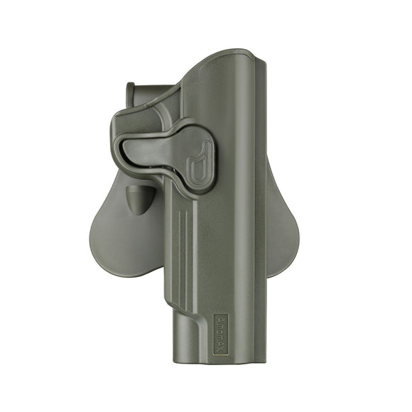 Amomax Adjustable Tactical Holster for Tokyo Marui/WE/KJW/KSC/KWA 1911 Series - Right-handed Green