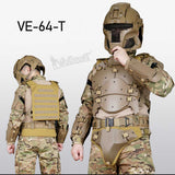 WST Tactical Vest Outdoor Multi-function Modular Tactical Armor Set Adjustable Tactical Elbow Pad Waist Seal
