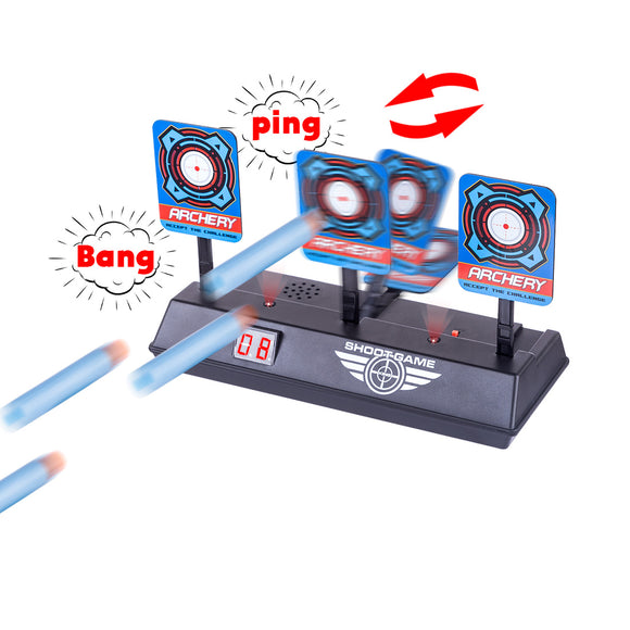 Electric Scoring Auto Reset Shooting Digital Target for Nerf Blaster Elite/Mega/Rival Series - tacticalxmen