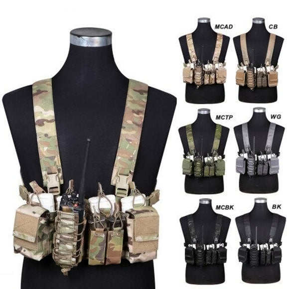 Longrui D3 Tactical Chest Rig Vest for Airsoft Paintball Hunting Sports - tacticalxmen