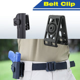 Amomax Tactical Hard Shell Belt Clip Compatible