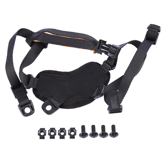 FMA Tactical Helmet Chin Strap Suspension System with Screws  - Black - tacticalxmen