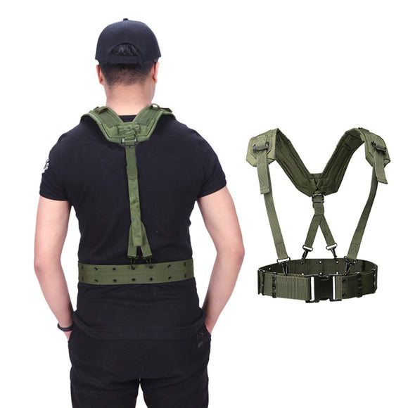 HS Molle Elite H-Harness Adjustable Lightweight Tactical Belt - tacticalxmen