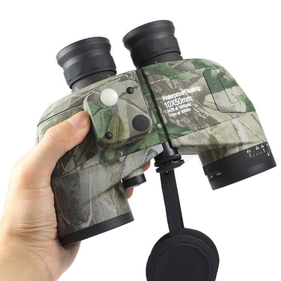 10x50 Military Binoculars HD Waterproof Telescope Night Vision with Compass