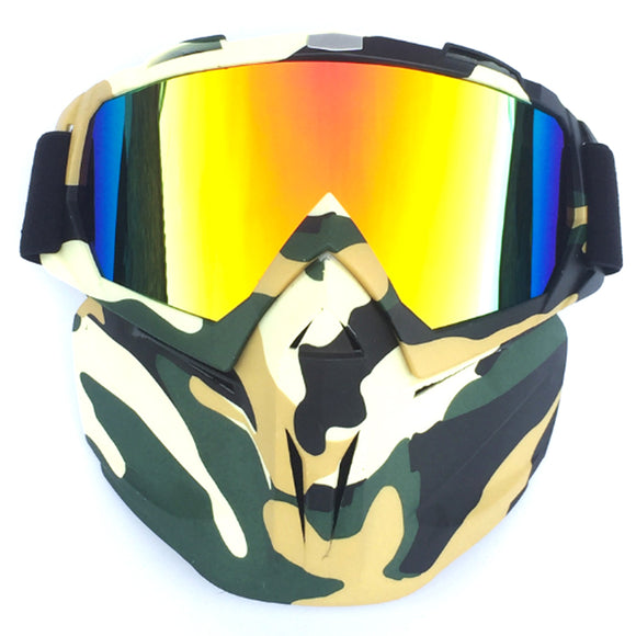 Tactical Eye Protection Face Mask with Googles for Motorcycle Racing - tacticalxmen