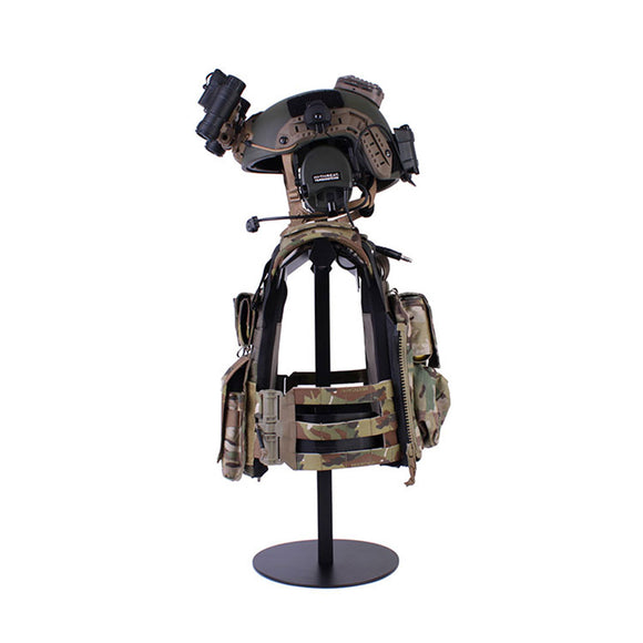 AK27 BESANCON Alloy Adjustable Tactical Plate Carrier Vest Modular Display Stand with Helmet Hanging Holder