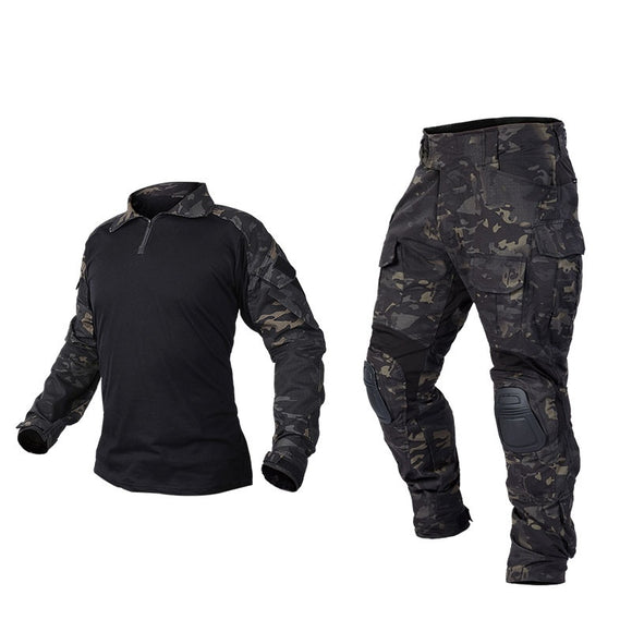 IDOGEAR Tactical G3 Combat Suit Shirt & Pants Knee Pads Update Ver Camo Combat Uniform-MCBK