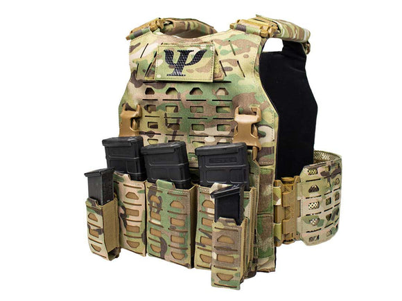 PSIGEAR Modular Plate Carrier System Laser Cutting Light Body Armor - Basic Edition