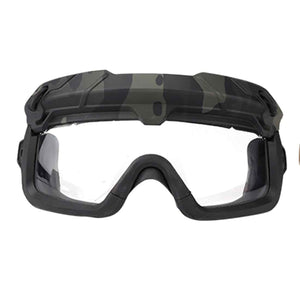 WST Multi-dimensional Split Type Tactical Mask Helmet Goggles
