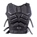 Kong Kim Military Tactical Vest Body Armor+Survivors Tactical Military Rubber Hard Knuckle Protective Full-finger Gloves - tacticalxmen