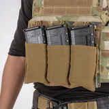 IDOGEAR Tactical 5.56 Magazine Pouch Fast Draw MOLLE Mag Pouch Carrier Triple Open Top
