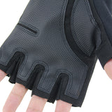 Survivors Military Rubber Protective Half-finger Gloves - Black - tacticalxmen