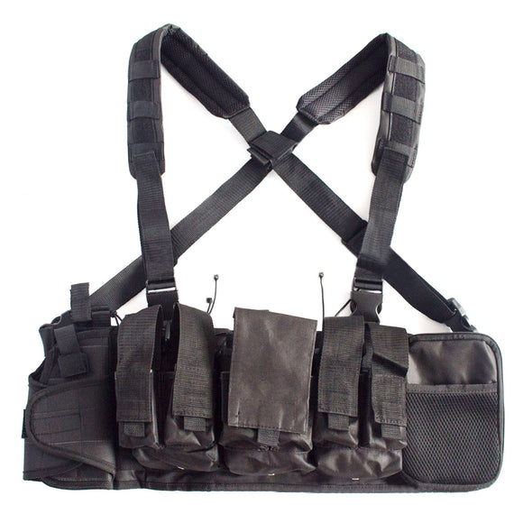 Tactical Chest Rig Piston Pouch with 4 Mag Pouch - tacticalxmen