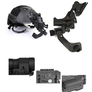 NVG Metal Mount Adapter with J Arm for AN/PVS PVS-14 - Black - tacticalxmen