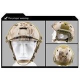WST Fast Helmet Tactical Pore-rhomb Helmet for Airsoft/Piantball/Hunting Sports - tacticalxmen