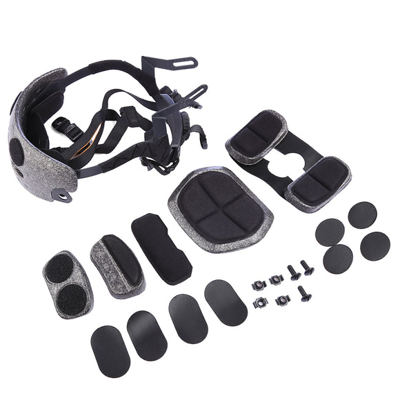 FMA Adjustable Helmet Liner with Pads - Black - tacticalxmen