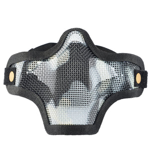 Cool Adjustable Outdoor Soft Bullet Safety Protective Mask(Skeleton Pattern)- Black - tacticalxmen