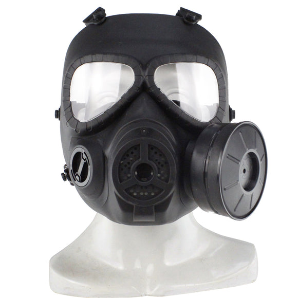 Full Face Outdoor Protective Gas Skull Mask with Single Filter Fans for Airsoft CS Battle - tacticalxmen