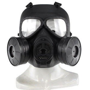 Full Face Outdoor Protective Gas Skull Mask with Dual Filter Fans for Airsoft CS Battle - tacticalxmen