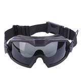 FMA Enhanced Edition LPG01BK12-2R Straight-wear Goggles for Airsoft Outdoor Activities-Black - tacticalxmen