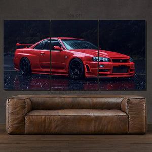 Nissan GT-R R34 Skyline Canvas FREE Shipping Worldwide!!