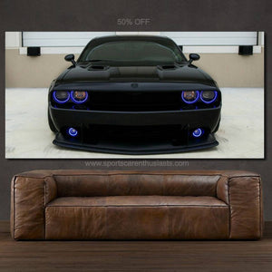 Dodge Challenger Canvas FREE Shipping Worldwide!!