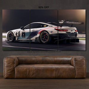 BMW M8 GTE Canvas FREE Shipping Worldwide!!