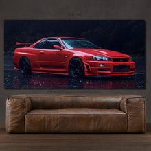 Load image into Gallery viewer, Nissan GT-R R34 Skyline Canvas FREE Shipping Worldwide!!