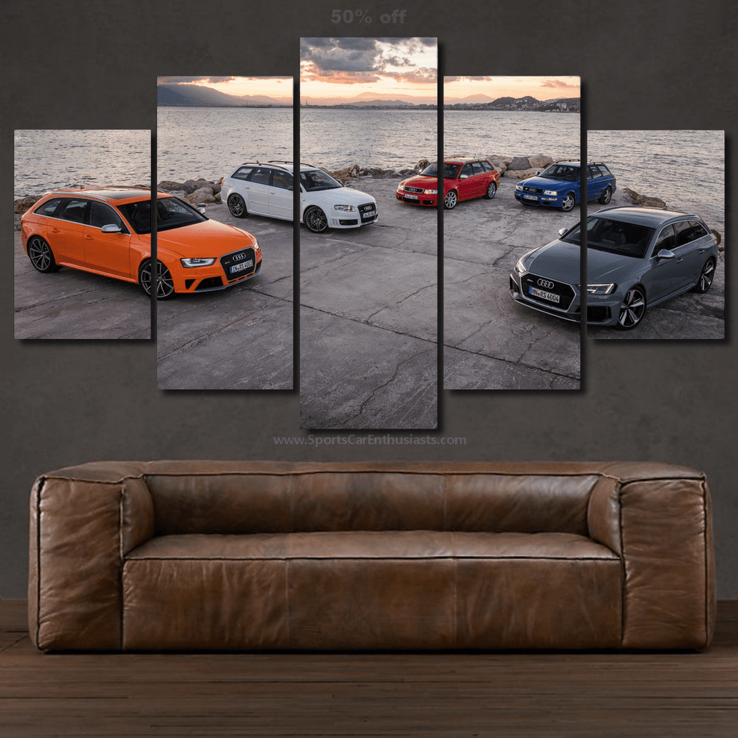Audi RS4 Evolution Canvas FREE Shipping Worldwide!!