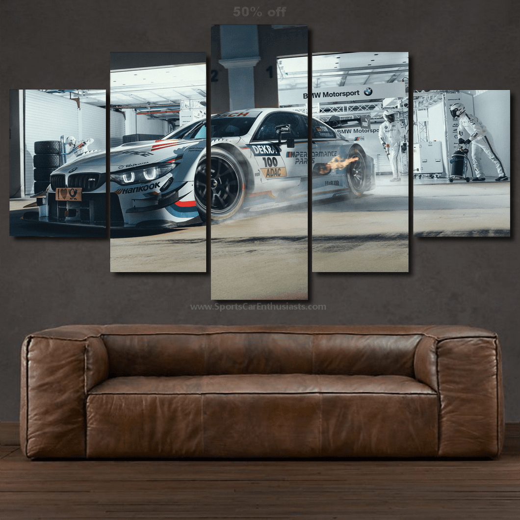 BMW M4 DTM Canvas FREE Shipping Worldwide!!