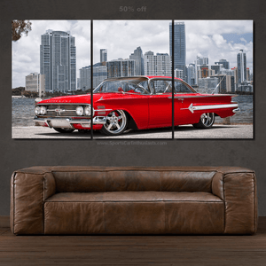 Chevy Impala 1960 Canvas 3/5pcs FREE Shipping Worldwide!!