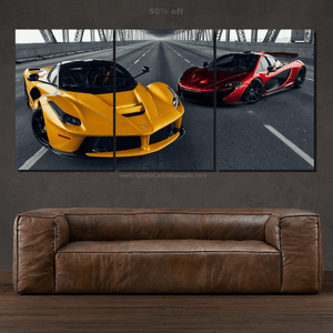 Hypercars Canvas 3pcs FREE Shipping Worldwide!!