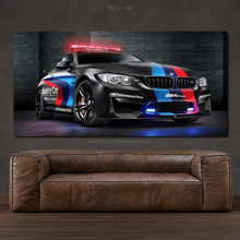 Load image into Gallery viewer, BMW M4 Safety Car Canvas FREE Shipping Worldwide!!