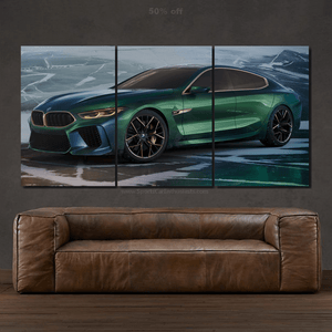 BMW M8 Gran Coupe Canvas 3/5pcs FREE Shipping Worldwide!!