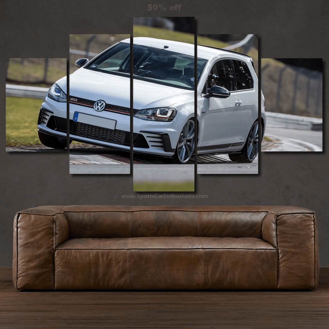VW Golf GTI Canvas 3/5pcs FREE Shipping Worldwide!!