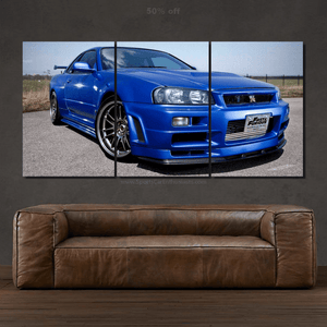 Nissan GT-R R34 Canvas FREE Shipping Worldwide!!