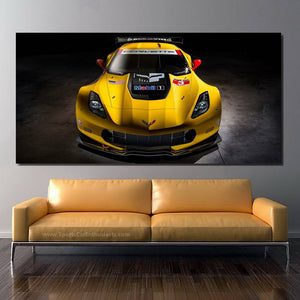 Chevrolet Corvette C7 R GT2 Canvas FREE Shipping Worldwide!!