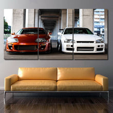 Load image into Gallery viewer, Toyota Supra & Nissan GT-R R34 Canvas FREE Shipping Worldwide!!