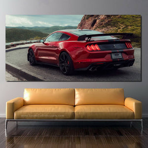 Ford Mustang Shelby GT500 Canvas FREE Shipping Worldwide!!