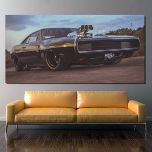 Dodge Charger RT Canvas FREE Shipping Worldwide!!