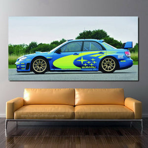 Subaru STI WRC Canvas FREE Shipping Worldwide!!