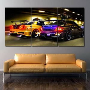 Cars Canvas 3/5pcs FREE Shipping Worldwide!!