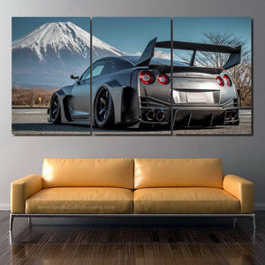 Nissan GT-R R35 Liberty Walk 3pcs Canvas FREE Shipping Worldwide!!
