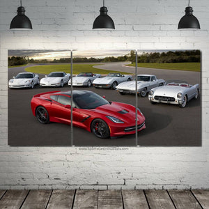 Chevrolet Corvette Evolution Canvas 3/5pcs FREE Shipping Worldwide!!