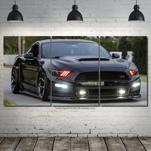 Ford Mustang 3/5pcs Canvas FREE Shipping Worldwide!!