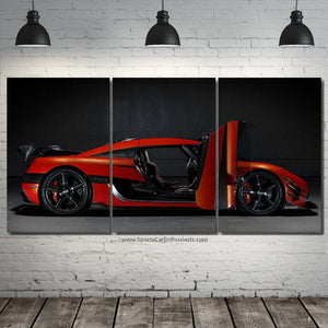Koenigsegg Agera one:1 Canvas 3/5pcs FREE Shipping Worldwide!!
